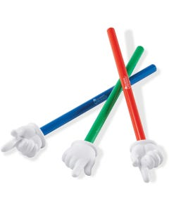 """Learning Resources 15"""" 3-piece Hand Pointers Set - Skill Learning: Social Skills, Cognitive Process, Gross Motor, Life Skill, Thinking - 3 Year & Up"""