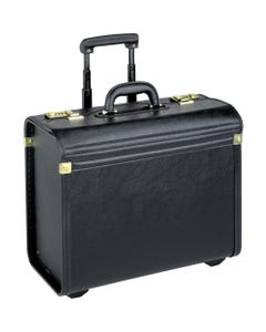 "Lorell Travel/Luggage Case (Roller) Travel Essential, Books, File Folder - Black - Vinyl - Handle - 14"" Height x 22"" Width x 8"" Depth"