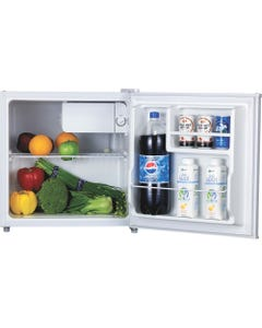 Lorell 1.6 cu.ft. Compact Refrigerator - 1.60 ft³ - Manual Defrost - Reversible - 0.06 ft³ Net Refrigerator Capacity - White - Steel, Plastic, Fiberglass