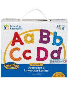Learning Resources Upper/Lower Case Magnetic Letters - Learning Theme/Subject (Lowercase Letters, Uppercase Letters) Shape - Magnetic - Wear Resistant, Tear Resistant - 82 / Set