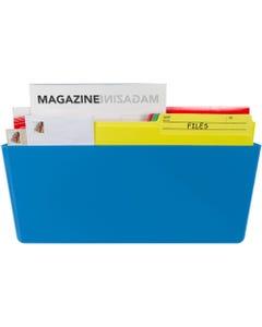 Storex Magnetic Wall Pocket - Blue - 1Each