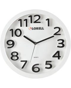"Lorell 13"" Round Quartz Wall Clock - Analog - Quartz"