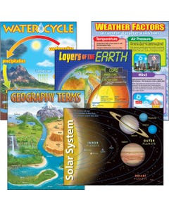 Trend Gr 2-9 Earth Science Learning Charts Combo - Theme/Subject: Learning - Skill Learning: Science - 5 Pieces - 5-13 Year