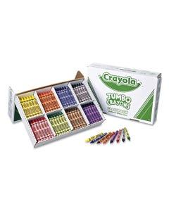 Crayola® Jumbo Classpack Crayons, 25 Each Of 8 Colors, 200/Set
