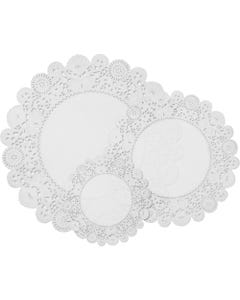 Pacon Deluxe Doilies - Craft, Greeting Card, Collage - Recommended For - 30 / Pack - White