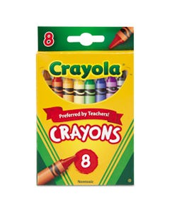 Crayola® Classic Color Crayons, Peggable Retail Pack, Peggable Retail Pack, 8 Colors
