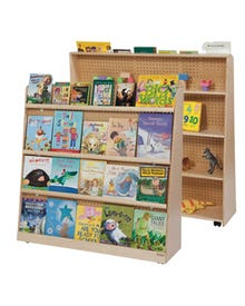"""Double Sided Book Display 50""""H, 50""""H x 48""""W x 18""""D"""
