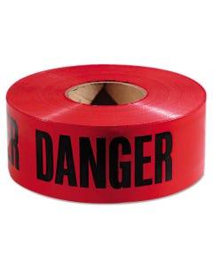 """Empire® Danger Barricade Tape, """"Danger"""" Text, 3"""" X 1000Ft, Red/Black"""
