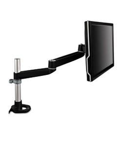 3M™ Dual-Swivel Monitor Arm, 4.5W X 19.5D X 18.5H, Black/Gray
