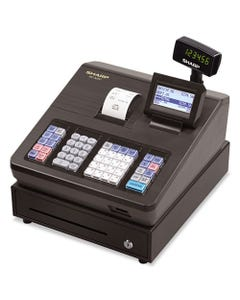 Sharp® Xe Series Electronic Cash Register, Thermal Printer, 2500 Lookup, 25 Clerks, Lcd
