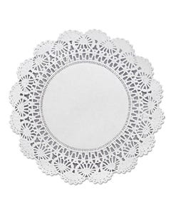 "Hoffmaster® Cambridge Lace Doilies, Round, 8"", White, 1000/Carton"