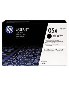 HP Hp 05X, (Ce505X-D) 2-Pack High Yield Black Original Laserjet Toner Cartridges
