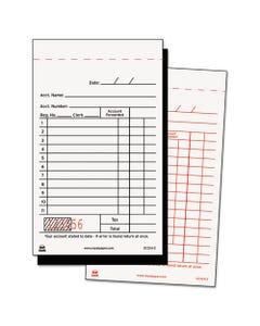 Sales Receipt Book, Carbon Duplicate, 3 2/5 x 5 3/5, 50/BK 100BK/CT