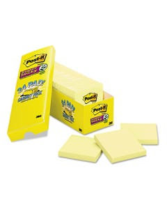 Post-it® Notes Super Sticky Canary Yellow Note Pads, 3 X 3, 90-Sheet, 24/Pack