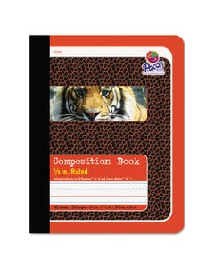 Pacon® Composition Book, Pitman Rule, Red Cover, 9.75 X 7.5, 100 Sheets