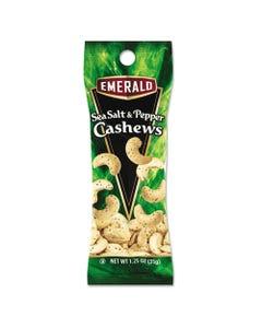 Emerald® Sea Salt And Pepper Cashews, 1.25 Oz Tube Package, 12/Box