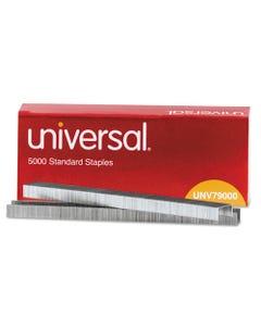 "Universal® Standard Chisel Point Staples, 0.25"" Leg, 0.5"" Crown, Steel, 5,000/Box"