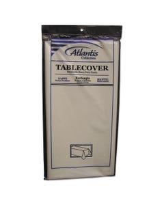 Atlantis Plastics Plastic Table Cover, Rectangular, 54 X 108, White, 12/Carton