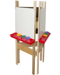 """3-SidedAdjustable Easel with Markerboard, 48""""H x 20""""W x 24""""D"""
