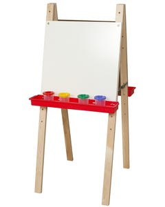 """Double Adjustable Easel with Markerboard, 48""""H x 20""""W x 24""""D"""