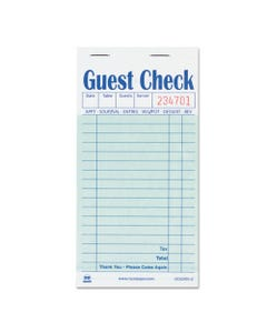 AmerCareRoyal® Guest Check Book, Carbon Duplicate, 3 1/2 X 6 7/10, 50/Book, 50 Books/Carton