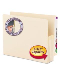 "Smead® Manila End Tab File Pockets, 3.5"" Expansion, Letter Size, Manila, 25/Box"