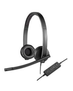 Logitech® Usb H570E Over-The-Head Wired Headset, Binaural, Black