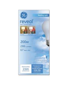 GE Reveal A21 Light Bulb, 200 W