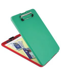 """Saunders Slimmate Show2Know Safety Organizer, 1/2"""" Clip Cap, 9 X 11 3/4 Sheets, Red/Green"""