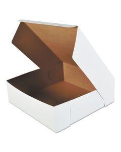 "Cake Box, 1 Piece, Locking Corner, 16""x16""x5"", 50/BD"