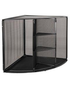 Rolodex™ Mesh Corner Desktop Shelf, Five Sections, 20 X 14 X 13, Black