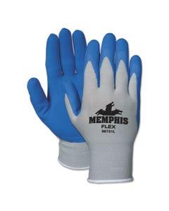 MCR™ Safety Memphis Flex Seamless Nylon Knit Gloves, Small, Blue/Gray, Pair