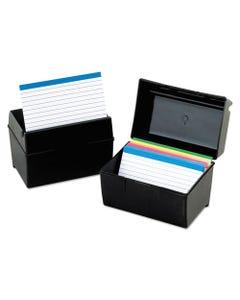 Oxford™ Plastic Index Card File, 300 Capacity, 5 5/8W X 3 5/8D, Black