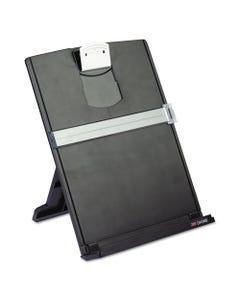 3M™ Fold-Flat Freestanding Desktop Copyholder, Plastic, 150 Sheet Capacity, Black