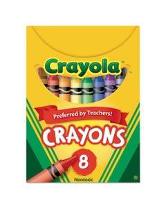 Crayola® Classic Color Crayons, Tuck Box, 8 Colors