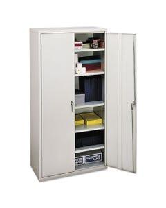 HON® Assembled Storage Cabinet, 36W X 18 1/8D X 71 3/4H, Light Gray