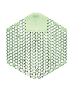 Fresh Products Wave 3D Urinal Deodorizer Screen, Green, Cucumber Melon Fragrance,10 Screens/Box