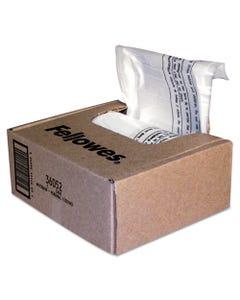 Fellowes® Shredder Waste Bags, 6-7 Gal Capacity, 100/Carton