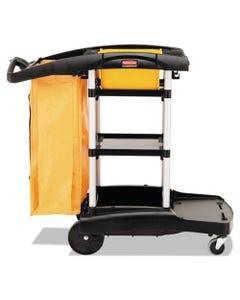 High Capacity Cleaning Cart, 21-3/4w X 49-3/4d X 38-3/8h, Black
