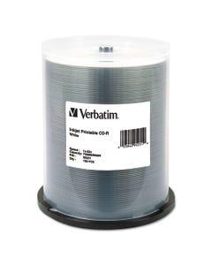Verbatim® Cd-R, 700Mb, 52X, White Inkjet Printable, 100/Pk Spindle