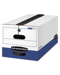 "Bankers Box® Liberty Plus Heavy-Duty Strength Storage Boxes, Letter Files, 12.25"" X 24.13"" X 10.75"", White/Blue, 12/Carton"