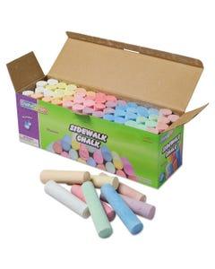 Creativity Street® Sidewalk Chalk, 4 X 1 Dia. Jumbo Stick, 12 Assorted Colors, 52/Set