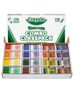 Crayola® Crayons And Markers Combo Classpack, Eight Colors, 256/Set