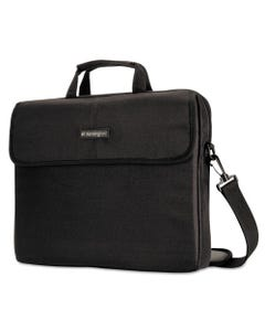 "Kensington® 15.6"" Simply Portable Padded Laptop Sleeve, Inside/Outside Pockets, Black"