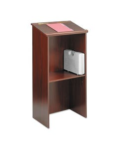 Safco® Stand-Up Lectern, 23W X 15.75D X 46H, Mahogany