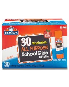 Elmer's® Washable School Glue Sticks, 0.24 Oz, Applies And Dries Clear, 30/Box
