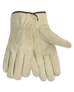MCR™ Safety Economy Leather Driver Gloves, Large, Beige, Pair