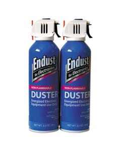 Endust® Non-Flammable Duster With Bitterant, 3.5 Oz, 2 Cans/Pack