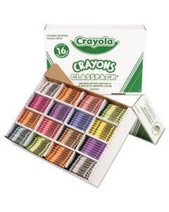Crayola® Classpack Regular Crayons, 16 Colors, 800/Bx