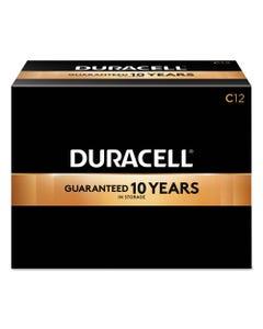 Duracell® Coppertop Alkaline C Batteries, 72/Carton